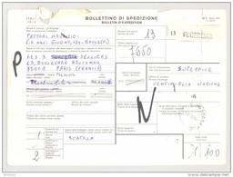 Bulletin D'Expédition - Italie- Cachets Et Vignette FUCECCHIO - 1981 - Timbres-Poste ITALIA - 1946-.. République