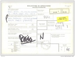 Bulletin D'Expédition - Italie- Cachets Et Vignette PAVIA 5 - 1981 - Timbres-Poste ITALIA - Vignette Colis Postal - 1946-.. République
