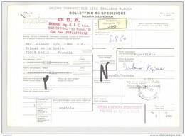 Bulletin D'Expédition - Italie- Cachets Et Vignette TORINO (Succursale 26) - 1981 - Tampon Fournisseur O.S.A. - 1946-.. République