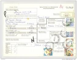 Bulletin D'Expédition - Italie- Cachets Et Vignette MILANO (Succursale 48) - 1981 - Tampon Laboratoire RIUNITI - 1946-.. République