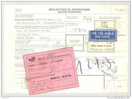Bulletin D'Expédition - Italie- Cachets Et Vignette COMO - 1981 - Vignette Ufficio Italiano Di Uscita Et CP 34 Douanes - 1946-.. République