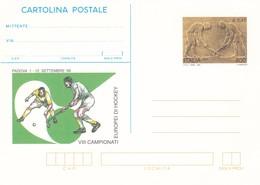 ITALIA REPUBBLICA CARTOLINA POSTALE PADOVA VIII CAMPIONATI EUROPEI DI HOCKEY  ANNO 1999 - 6. 1946-.. Repubblica