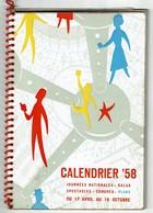 Expo 58' - Calendrier 1958 - Journées Nationales - Galas - Spectacles ..80 Pages + Plan - 6 Scans - Belgique