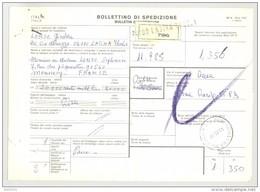 Bulletin D'Expédition - Italie- Cachets Et Griffe Localisée LATINA - 1981 - Timbres-Poste ITALIA - 1946-.. République
