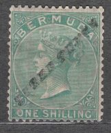 Bermuda 1874 Sc#10 Three Pence Overprint On One Schilling, Very Rare Stamp In Very Fine Condition, Mint Hinged - Bermuda