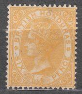 British Honduras 1882 (1885) Sc#16 Six Pence Yellow, Mint Hinged - Honduras Britannico (...-1970)