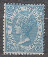 British Honduras 1877 Sc#8 One Pence Blue Perf. 14, Mint Hinged - Honduras Britannico (...-1970)