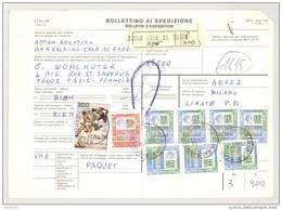 Bulletin D'Expédition - Italie- Cachets Et Vignette SALA AL BARRO - 1981 - Timbres-Poste ITALIA - 1946-.. République