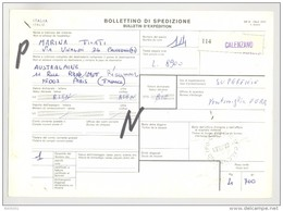 Bulletin D'Expédition - Italie- Cachets Et Vignette CALENZANO - 1981 - Timbres-Poste ITALIA - 1946-.. République