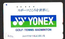 Télécarte Japon * Sport *  TENNIS  * YONEX  *  (2032)  PHONECARD JAPAN * TELEFONKARTE * - Sport