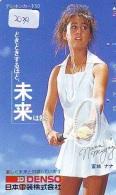 Télécarte Japon * Sport *  TENNIS  * Nana Miyagi  * FEMME  (2034)  PHONECARD JAPAN * TELEFONKARTE * - Sport