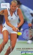 Télécarte Japon * Sport *  TENNIS  * ANNA KOURNIKOVA * FEMME   (2040)  PHONECARD JAPAN * TELEFONKARTE * - Sport