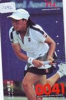 Télécarte Japon * Sport *  TENNIS  *  FEMME   (2042)  PHONECARD JAPAN * TELEFONKARTE * - Sport