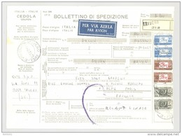 Bulletin D'Expédition - Italie- Cachets Et Vignette TRIVERO - 1977 - Timbres-Poste ITALIA - Vignette Par Avion - 1946-.. République