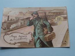 Bons Baisers De ........... ( E.M 245) Anno 1916 ( Zie Foto Voor Details ) ! - Militari