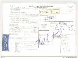 Bulletin D'Expédition - Italie - Cachets PARMA - 1981 - Timbres-Poste ITALIA - Tampon GEORGIO BARBIERI CINTURE - 1946-.. République