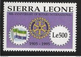1995 Sierra Leone Rotary International Flags  Complete Set Of 1   MNH - Sierra Leone (1961-...)