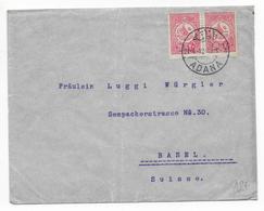 TURQUIE - 1912 - ENVELOPPE De ADANA => BASEL (SUISSE) - 1858-1921 Ottoman Empire