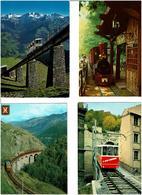 TRAINS /  Lot De 43 Cartes Postales Modernes écrites - Cartes Postales