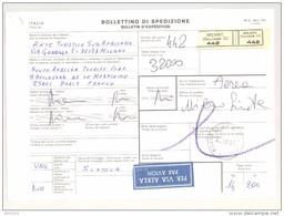 Bulletin D'Expédition - Italie - Cachets Et Vignette MILANO (Succursale 32) - 1981 - Timbres-Poste ITALIA - Par Avion - 1946-.. République