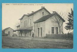 CPA Chemin De Fer La Gare Fermée Depuis 1957 AOSTE-SAINT-GENIX 38 - Francia