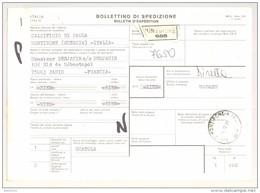 Bulletin D'Expédition - Italie - Cachets Et Vignette MONTIRONE - 1981 - Timbres-Poste ITALIA - 1946-.. République