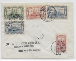 TURQUIE - 1914 - TAXE YT N° 51/54 Sur ENVELOPPE De PERA - 1858-1921 Empire Ottoman