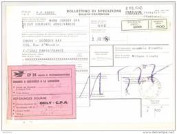 Bulletin D'Expédition - Italie - Cachets Griffe Et Vignette SOLBIATE ARNO - 1981 - Vignette CP 34 Droits De Douane - 1946-.. République