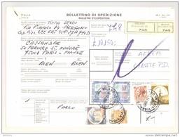 Bulletin D'Expédition - Italie - Cachets Et Vignette MILANO (Succursale 15) - 1981 - Timbres-Poste ITALIA - 1946-.. République