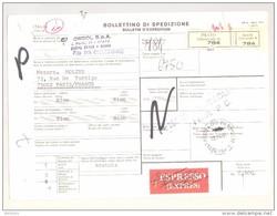 Bulletin D'Expédition - Italie - Cachets Et Vignette PRATO (Succursale 4) - 1981 - Vignette Exprès - Griffe VENTIMIGLIA - 1946-.. République