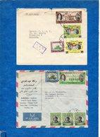 JORDANIE - 1964 - 2 Enveloppes , Timbres Oblitérés ( Visite Du Pape + Divers) Pour La Belgique   Voir Scans - Jordanie