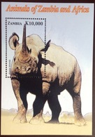 Zambia 2005 Animals Rhino Minisheet MNH - Rhinozerosse