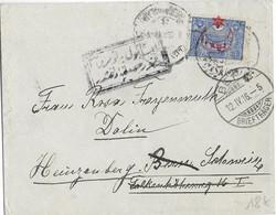 TURQUIE - 1916 - ENVELOPPE De CONSTANTINOPLE Avec CENSURE => BERN => CAZIS (SUISSE) - 1858-1921 Empire Ottoman
