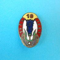 10 LET PD 1953-1963 ... Slovenia Ex Yugoslavia Old Enamel Pin Badge Mountaineering Alpinisme Bergsteigen Alpinismo - Alpinism, Mountaineering