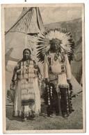 Real SIOUX INDIANS From Pine Ridge So. Dakotah - 1935 Souvenir De L'Exposition De Bruxelles - Peaux-Rouges - 2 Scans - Amérique