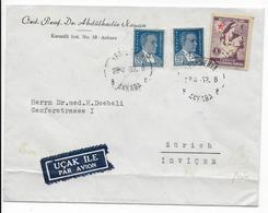 TURQUIE - 1952 - ENVELOPPE Par AVION De ANKARA => ZÜRICH (SUISSE) - Lettres & Documents