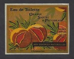 Etiquette   Eau De Toilette Orange Santal Et Petitgrain Aux Essences Naturelles  -  L'Aromarine - Etiquettes