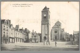 CPA 35 - Saint Aubin Du Cormier - La Place De L'Eglise Et La Tour - France
