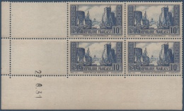 N°__261 COIN DATE PORT DE LA ROCHELLE TYPE III BLEU, NEUFS ** /*1929 - Coins Datés