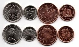 Falkland Islands - 1 2 5 10 Pence 1998 - 2011 UNC Set 4 Coins Ukr-OP - Falkland Islands