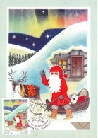 Cartolina Maximum Santo Natale Emissione Congiunta Con Poste Finlandia 1999 - Cartoline