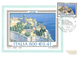 Cartolina Maximum Lipari Località Turistica 1999 - Cartoline