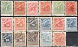 Lote Varios Sellos TASA, Taxe GRECIA 1913, Yvert Num 65-79 º/* - Usati