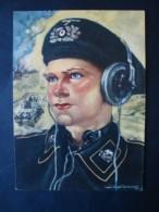 Propaganda - Künstlerkarte, Panzermann, Junge, Axster Heudtlaß, Ungelaufen - Guerre 1939-45