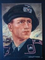Propaganda - Künstlerkarte, Panzermann, Axster Heudtlaß, Ungelaufen - Weltkrieg 1939-45
