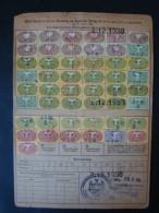 1937, Essen, Krupp Stahlwerk, Versicherungskarte Mit 49 Quittungsmarken !! - Storia Postale
