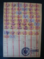 1940, Essen, Krupp Stahlwerk, Versicherungskarte Mit 50 Quittungsmarken !! - Alemania