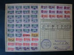 1923, Eschweiler Bergwerk, Versicherungskarte Mit 52 Quittungsmarken !! - Deutschland