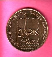 JETON TOURISTIQUE MDP MONNAIE DE PARIS 2018 PARIS PHILEX 7 - 10 JUIN TIMBRES ET COLLECTIONS - Monnaie De Paris