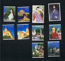 16. Okt. 2009 140 Jahre Diplomatische Beziehungen Zu Österreich 5053 Bis 5062 Gestempelt O - 1989-... Kaiser Akihito (Heisei Era)
